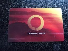 Hotelkarte Room Key Keycard Clef De Hotel Tarjeta Hotel  SHANGRI - LA  GOLDEN CIRCLE No Location - Phonecards