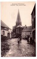 5007 - Compains  ( 63 ) - Place Centrale Et L'Eglise - Auvergne Pittoresque - Gouilloux Phot. à Issoire - - Sonstige Gemeinden