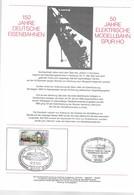 .De 1985 - Thème énergie - 50 ANS DE TRAIN Ho Electrique - 07/10/1985 - - Covers & Documents