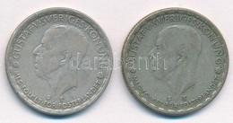 Svédország 1946TS 1K Ag (2x) 'V. Gusztáv' T:2- Kis Patina Sweden 1946TS 1 Krona Ag (2x) 'Gustaf V.' C:VF Small Patina Kr - Coins & Banknotes