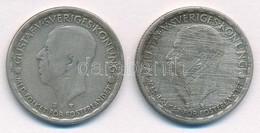 Svédország 1946TS-1950TS 1Kr Ag (2xklf) 'V. Gusztáv' T:2-,3 Karc, Patina Sweden 1946TS-1950TS 1 Krona Ag (2xdiff) 'Gusta - Coins & Banknotes