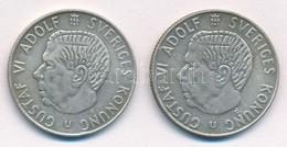 Svédország 1965U-1966U 1K Ag (2xklf) T:1- Kis Patina Sweden 1965U-1966U 1 Krona Ag (2xdiff) C:AU Small Patina Krause KM# - Coins & Banknotes