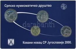 Szerbia 2000. 50p-5D (4xklf) Forgalmi Sor T:1 Serbia 2000. 50 Para - 5 Dinars (4xdiff) Coin Set C:UNC - Coins & Banknotes