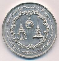 Thaiföld 1974. 500B Ag '100 éves A Nemzeti Múzeum' T:1- Thailand 1974. 500 Baht Ag 'National Museum Centennial' C:AU Kra - Coins & Banknotes