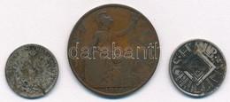 Vegyes: Ausztria 1872. 10Kr Ag + Nagy-Britannia 1914. 1P Br + Ausztria 1926. 1/2S Ag T:3,3- Patina Mixed: Austria 1872.1 - Coins & Banknotes