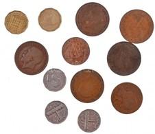 12db-os Vegyes Brit és Kanadai Fémpénz Tétel, Közte 1900. 1p Br 'Viktória' T:2,2-,3 12pcs Of Various British And Canadia - Coins & Banknotes