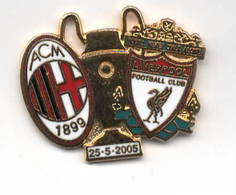 Milan - Liverpool Calcio Coppa Soccer Pins Champion Ligue Cup Football - Calcio