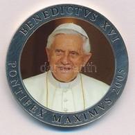 Vatikán 2005. 'XVI. Benedek Pápa' Ezüstözött Multicolor Emlékérem (40mm) T:PP  Vatican 2005. 'Pope Benedictvs XVI' Silve - Coins & Banknotes