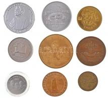 9db-os Vegyes Külföldi Emlékérem és Zseton Tétel, Közte 'Hollywood - Walk Of Fame', 'Star Wars - New Hope' T:2 9pcs Of V - Coins & Banknotes
