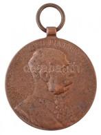 1898. 'Jubileumi Emlékérem Fegyveres Erő Számára / Signum Memoriae (AVSTR)' Br Kitüntetés T:3  Hungary 1898. 'Commemorat - Coins & Banknotes