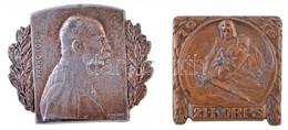 Osztrák-Magyar Monarchia 1915. 'Ferenc József' Br Sapkajelvény 'R. MARSCHALL 1915' Gyártói Jelzéssel (32x40mm) + 1916. ' - Coins & Banknotes