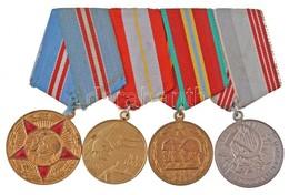 Szovjetunió 1968. '50 éves A Szovjet Fegyveres Erők' Sárgaréz Kitüntetés Mellszalagon + 1978. '60 éves A Szovjet Fegyver - Coins & Banknotes