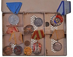 8db-os Vegyes Magyar és Szovjet Kitüntetés Tétel, Közte  'Becsület Érdemrend',  'Munka Vörös Zászló Érdemrendje' T:2,2-  - Coins & Banknotes