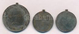 Maugsch Gyula (1882-1945) ~1929-1935. 'Pest-Pilis-Solt-Kiskun Vármegye' 3db Díjérem, Két Különféle Méretben, Szalagok Né - Coins & Banknotes