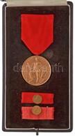 Csehszlovákia ~1950. 'Elkötelezett Munkáért?, Bronz Fokozat' Br Kitüntetés Mellszalagon, Miniatűrrel és Szalagsávval, Er - Coins & Banknotes