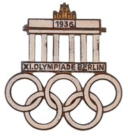 Német Harmadik Birodalom 1936. 'XI. Olimpia Berlin' Zománcozott Olimpiai Jelvény, 'W. REDO SAARLAUTERN - GES. GESCH.' Gy - Coins & Banknotes