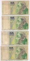 Szlovákia 1993. 20K (4x) + 100K (2x) + 1993-2001. 14db érme T:vegyes Slovakia 1993. 20 Korun (4x) + 100 Korun (2x) + 199 - Coins & Banknotes
