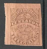 COLOMBIA KOLUMBIEN Telegraph Stamp 10 C. MNH - Kolumbien