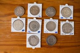 Lot De 10 Pièces 5 Francs Du XIX Ième FRANCE Argent - France