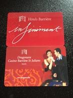 Hotelkarte Room Key Keycard Clef De Hotel Tarjeta Hotel  DRAGONARA CASINO BARRIERE ST. JULIANS MALTA 2 Cards - Telefonkarten