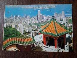 L21/622 CHINE .  HONG KONG - KOWLOON FROM THE PEAK - China (Hong Kong)