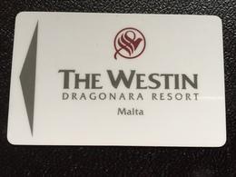 Hotelkarte Room Key Keycard Clef De Hotel Tarjeta Hotel  THE WESTIN DRAGONARA RESORT MALTA - Telefonkarten
