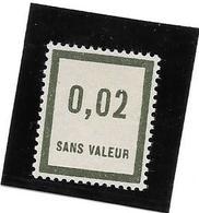 FRANCE FICTIF N°F24** Mnh Sans  Charnière Malgré Un Soupçon De Trace (voir Le Recto/verso) - Fictifs