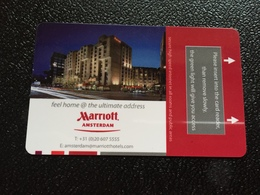 Hotelkarte Room Key Keycard Clef De Hotel Tarjeta Hotel  MARRIOTT AMSTERDAM  With Holland Casino - Telefonkarten