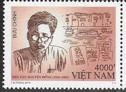 VIETNAM, 2018, MNH, WRITERS, NGUYEN HONG, BOATS, 1v - Writers