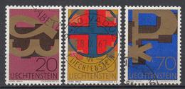 LIECHTENSTEIN - Michel - 1967 - Nr 482/84 - Gest/Obl/Us - Liechtenstein