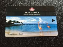Hotelkarte Room Key Keycard Clef De Hotel Tarjeta Hotel  RENAISSANCE ARUBA RESORT & CASINO - Telefonkarten