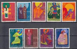 LIECHTENSTEIN - Michel - 1967 - Nr 486/94 - Gest/Obl/Us - Liechtenstein