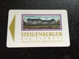 Hotelkarte Room Key Keycard Clef De Hotel Tarjeta Hotel  STEIGENBERGER BAD PYRMONT With Casino On Back - Telefonkarten