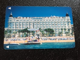 Hotelkarte Room Key Keycard Clef De Hotel Tarjeta Hotel  CARLTON INTER-CONTINENTAL CANNES - Phonecards