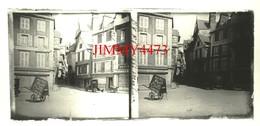 MORLAIX 29 Finistère - Rue Bien Animée En 1932 - Plaque De Verre Stéréo - Taille 58 X 128 Mlls - Plaques De Verre