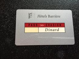 Hotelkarte Room Key Keycard Clef De Hotel Tarjeta Hotel  BARRIERE DINARD - Telefonkarten