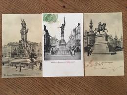 3 CPA, Anvers, Monuments Léopold I,  De La Furie Française Et Commémoratif De L'Affranchissement De L'Escaut - Antwerpen