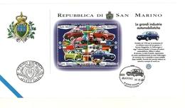 1997 - San Marino BF 57 Volkswagen - FDC - Automobili