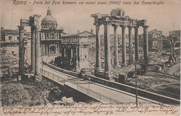 AK Roma Rom Parte Del Foro Romano Coi Nuovi Scavi 1900 Vista Dal Campidoglio Panorama Forum Romanum Italien Lazio Italia - Places & Squares