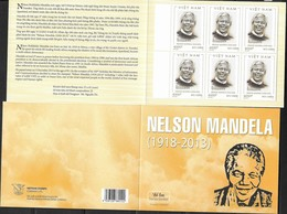 VIETNAM, 2018, MNH, MANDELA, BOOKLET - Famous People