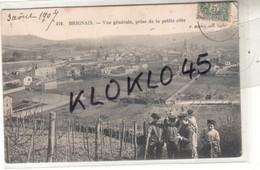 69 BRIGNAIS ( Rhône ) Vue Générale Prise De La Petite Côte - Animé Enfants Jouant Cerceau - CPA Martel 419 Généalogie - Brignais