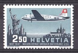 Suisse - 1947 - PA N° 41 - Neuf * - Douglas DC-4 - Unused Stamps