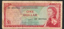 E.C.S. P13a2 1 DOLLAR 1965 Signature 2  #B2 AVF NO P.h. - Oostelijke Caraïben