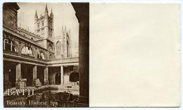 ADVERTISING : PRE-PRINTED ENVELOPE : BATH - BROMLEY HOTEL - VIEW OF ROMAN BATHS - Advertising