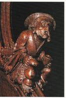 Sculpure Sur Bois: Les Stalles De La Cathédrale D'amiens, L'ivrogne Ou Le Vieux Buveur - Sculptures