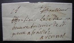 1715 Lettre Du Château Du Quengo à Irodouer Ille Et Vilaine Par Du Quengo Ferron, Pour Rennes - Manuskripte