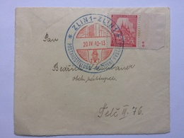BOHEMIA & MORAVIA 1942 Postal Piece With Large Zlin Handstamp - Bohemia & Moravia