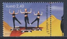 Aland 1998 Mi 139 SG 135 ** Step Aerobics / Aerobic - Youth Activities / Jugendaktivitäten - Andere