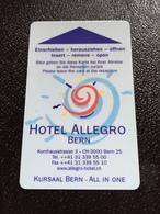 Hotelkarte Room Key Keycard Clef De Hotel Tarjeta Hotel  ALLEGRO BERN Casino On Back - Telefonkarten