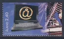 Aland 1998 Mi 137 SG 133 ** Laptop Computer / Surfen Im Internet - Youth Activities / Jugendaktivitäten - Kindertijd & Jeugd